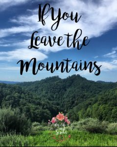 If You Leave the Mountains - a letter of encouragement for if you decide to leave home